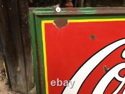 Vintage Porcelain Drink Coca Cola Advertising Sign