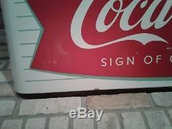 Vintage Porcelain Sled Horizontal Coca Cola Sign of Good Taste Sign