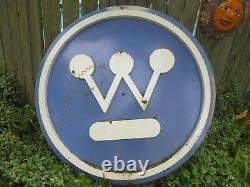 Vintage Porcelain Westinghouse advertising sign large 5