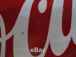 Vintage Rare 1953 Coca Cola Button Flat Edge Flange Sign