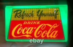 Vintage Rare Refresh Yourself Drink Coca Cola Lightup