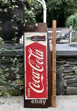 Vintage SST Drink Coca Cola Red Arrow & Coke Bottle MCA Advertising Sign, 1950s