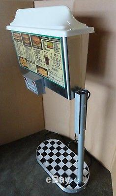 Vintage Stainless Drive In Diner Car Hop Call Station Light Up Menu Board Sign