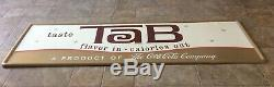 Vintage Tab Advertising Tin Sign Product of Coca Cola Coke Company