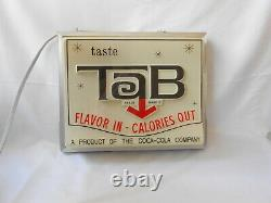 Vintage Tab Light-Up Coca-Cola Grocery Trade Sign