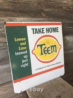 Vintage Teem Soda Rack Sign Advertising Soda Sign