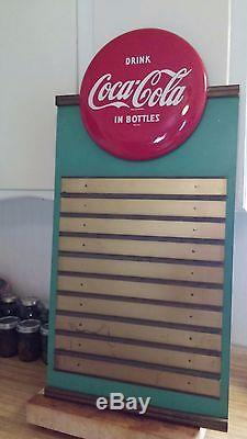 Vintage all original coke coca cola menu board disc button sign
