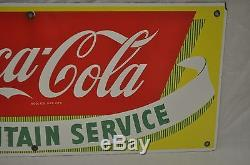 Vintage c1930 Coca Cola Coke 28 Single Sided Porcelain Sign-Excellent