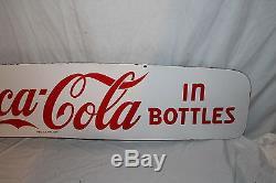 Vintage c. 1950 Coca Cola Soda Pop 50 Delivery Truck Porcelain Metal SignNice