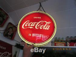 Vintage coca cola Light-up Halo sign Bottle arrow