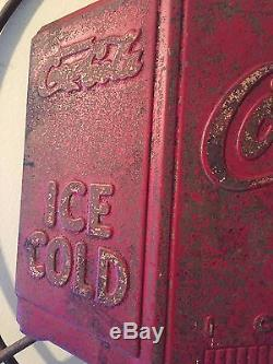 Vintage coca cola sign old 1940s Vintage original