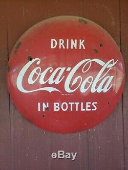 Vintage coca cola sign original 1950's