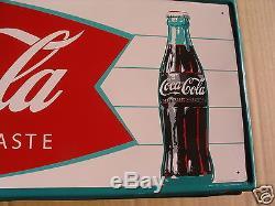 Vintage coke sign 1966 fishtail sign