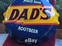 Vintageembosseddads Root Beerbottle Cap Signstout Sign Co. Usanear Mint