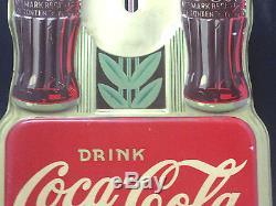 Vntg 1941 Robertson Dualife Springfield Ohio Dbl. Bottle Coca Cola Thermometer