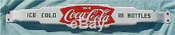 Vtg. 1950 s Porcelain Ice Cold Coca Cola In Bottles Advertising Sign Door Push