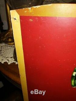 Vtg 50s 1950 Coca-Cola Cardboard Advertising Hospitality Sign 20 X 36 RARE