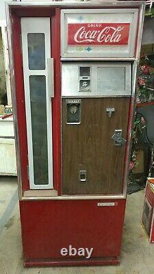 Vtg Coca Cola CSS-80G Cavalier Coke Machine Star Sign Gas Station Vending Oil Up