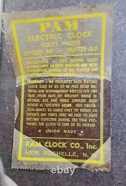 Vtg Coca-Cola Coke Fishtail Green Pam Clock Advertising Sign 15
