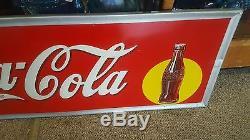 Vtg. Rare 1938 Original Drink Coca Cola metal sign NOS