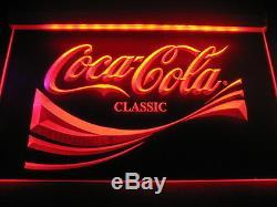 W2101Coca Cola Classic Logo Cafe Neon Light Sign