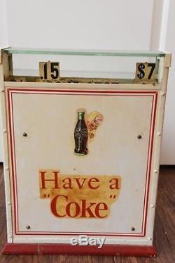WORKING VINTAGE Antique Original Coca Cola Ad Cash Register