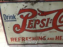 =vntage Pepsi Cola Sign Rare Double Dot Pepsi Cola Sign Drink Pepsi Cola Soda